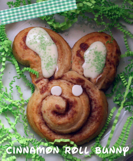 Get the recipe to make this cinnamon roll bunny!