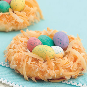 The cutest little edible bird nests EVER.