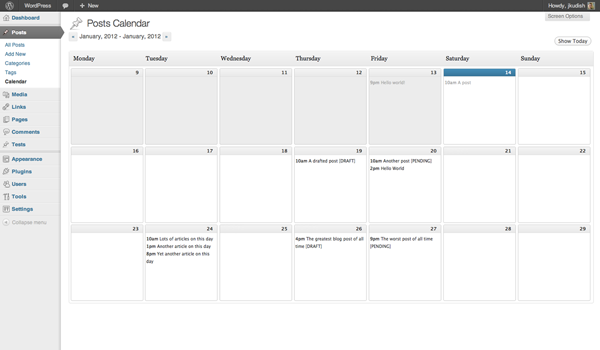 Get the WordPress Editorial Calendar plugin