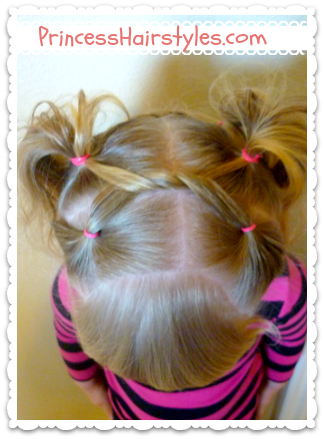Twisty pigtails with a video tutorial!