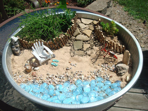 Fairies need beach vacations, too-- so make a beach fairy garden!